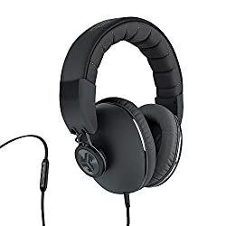 JLab Bombora Premium Over-Ear Headphones with Inline Mic and Track Control(Midnight Black)
