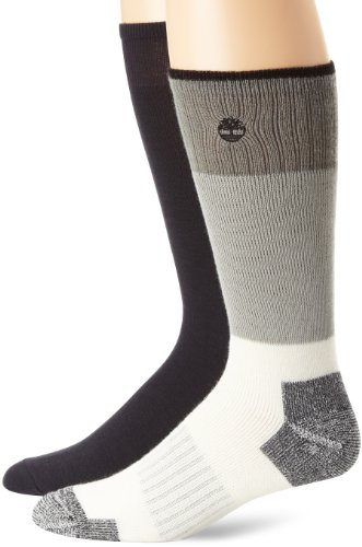 Timberland Men'S Coolmax Liner Combo Boot Socks, Rustic Heather/Black, One Size front-971860