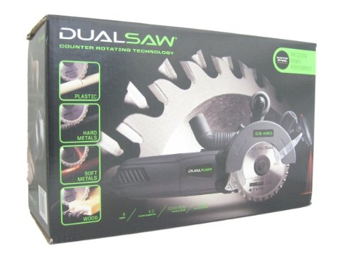 DUALSAW-TwinCut-Counter-Rotating-Saw-CS-450-w-Laser-Case-Vacuum-Attachment