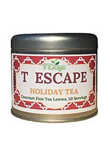 Holiday Chai Gourmet Loose Tea - 50 Servings-Gross Wt 8 OZ - Special Edition - all natural tea - Makes 50 Servings- Pick our Finest teas for a perfect Holiday Gift