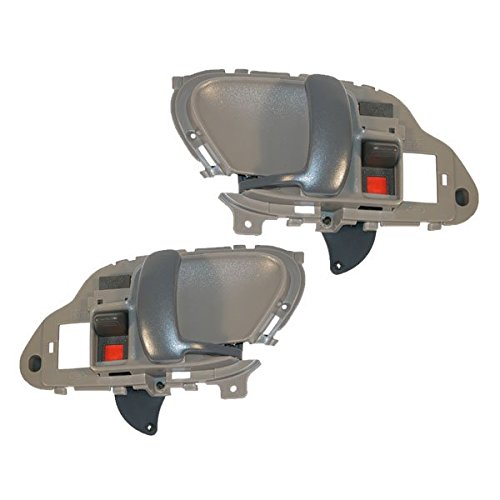 Chevy Tahoe C/K Yukon 95 - 02 Front Inner Gray Door Handle Set 15708044 15708043 (Chevy Truck Body Parts compare prices)