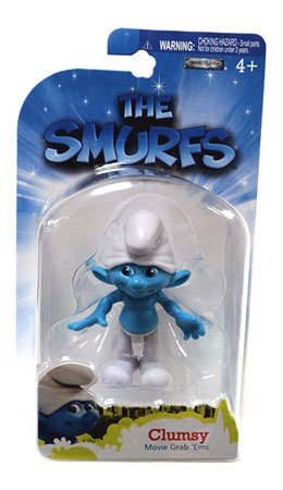 The Smurfs Movie Grab Ems Mini Figure Clumsy - 1