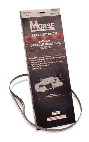 MK Morse ZWEP4414W Master Cobalt Portable Band Saw, Bi-metal 44-7/8-Inch X 1/2-Inch X .020-Inch, 14 TPI, Pack of 3 (Tamaño: 3)