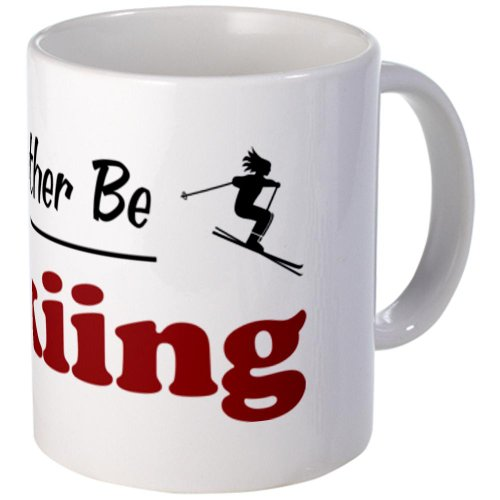 CafePress - Rather Be Skiing Mug - Unique Coffee Mug, 11oz Coffee Cup (Skiing Coffee Cup compare prices)