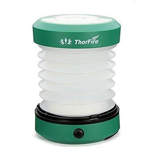 ThorFire Mini Torcia LED Lanterna Lampada Ripiegabile per Campeggio e Escursione Usando Batteria AA Colore Verde