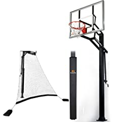 Goalrilla GSIII-SPP In-Ground Basketball System with Pole Padan Ball Return Net,... by Goalrilla Goals