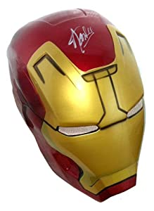 Stan Lee Autographed/Signed Marvel Iron Man Plastic Costume Prop Mask from Radtke Sports