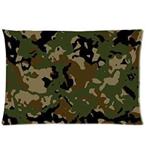Amazon.com: Camouflage Military Uniform Green Army Camo Pattern Throw Pillow Case Zippered ...