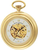 Hot Sale Revue Thommen Men's 12002.3112 Pocket Watch Hand-Winding Movement White Dial Watch