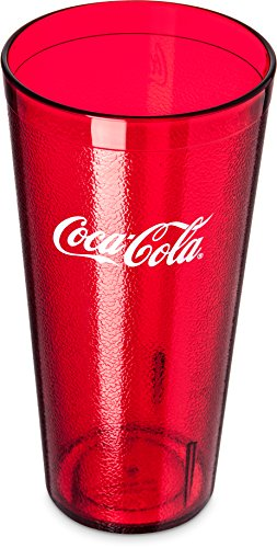 Carlisle 52243550H Stackable Restaurant SAN Plastic Coca-Cola Tumbler/Cup, 24 oz, Ruby Red (Pack of 72) (Restaurant Coca Cola Cup compare prices)