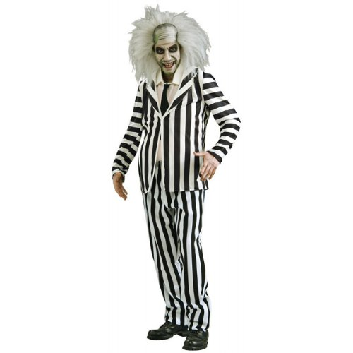 Licensed Beetlejuice 80s Horror Film Costume for Men