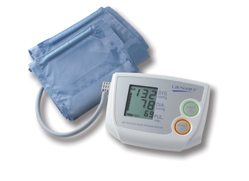 Cheap LifeSource UA-774AC Dual Memory Auto Inflate Blood Pressure Monitor with Medium and Large Cuff and AC Adapter (UA-774AC)