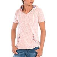 (スペイド) SPADE パーカー メンズ 半袖 プルオーバー Tシャツ ジャガード アメカジ 【w415】