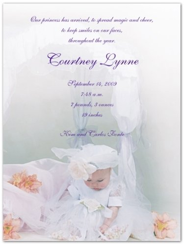 Baby Girl Photo Birth Announcements front-599367