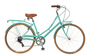 City Bike , Commuting bicycle 700C , Celeste Green , 48CM(19 Inch), 7 speed Shimano, Women's by Biria