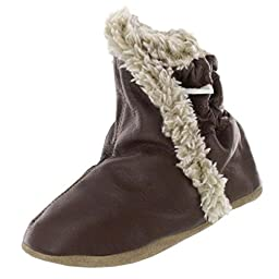 Robeez Classic Bootie (Infant/Toddler/Little Kid), Brown, 6-12 Months (2.5-4 M US Infant)