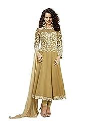Khazana Women's Unstitched Dress Material (khazana-kag-fresh-10003_Brown_Free Size)