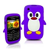 Tinkerbell Trinkets® PURPLE Penguin For Blackberry Curve 8520 8530 9300 3G Cute Mobile Phone Case Cover