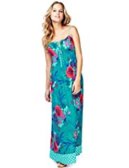 Oriental Swirl Maxi Dress
