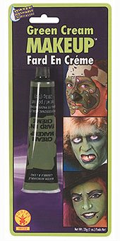 Rubie's Green Cream Makeup, 0.7 Ounce