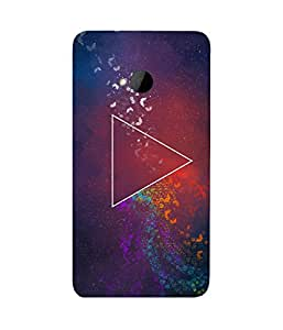 Triangle Butterfly HTC One M7 Case