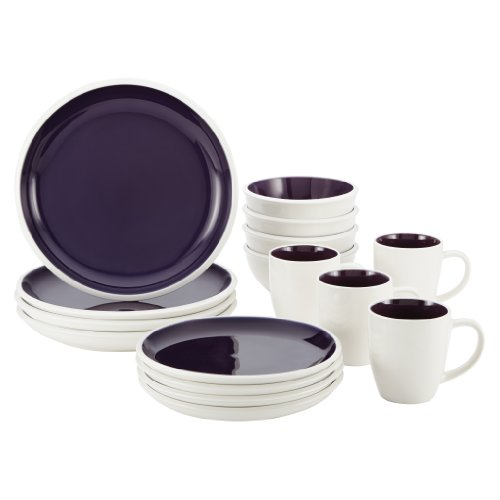 Rachael Ray Dinnerware Rise Collection 16-Piece Set, Purple