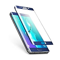 Exoic81 Full Covered Curved Edges Tempered Glass Screen Protector For Samsung Galaxy S7 Edge - BLUE