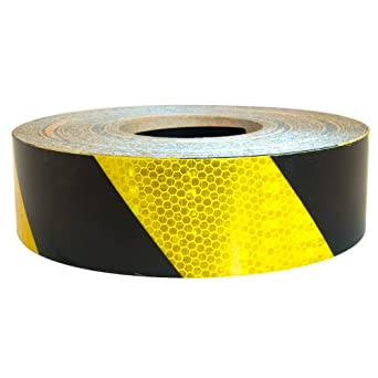 Comblack And Yellow Floor Tape : Brite Reflective Tape : 2