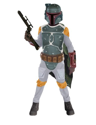 Child Deluxe Boba Fett Lg Kids Boys Costume