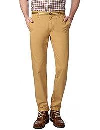 Peter England Khaki Trousers - B01CGN2EZW