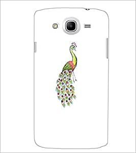 PrintDhaba Peacock D-4745 Back Case Cover for SAMSUNG GALAXY MEGA 5.8 (Multi-Coloured)