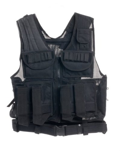 Ultimate Arms Gear Tactical Scenario Stealth Black Paintball Airsoft Battle Gear Tank-Armor Pod Vest