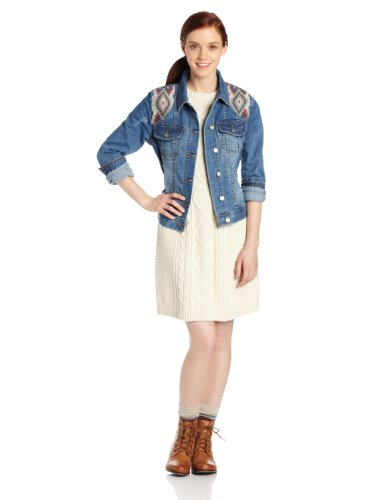 Roxy Juniors Dancing Shores Jacket, Fallen Flags, X-Small