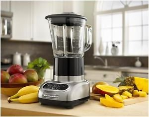 Kitchenaid 5-Speed Blender W/48-Ounce Glass Jars .9 Horsepower Brushed Nickel One Day Shipping Good Gift Fast Shipping front-875665