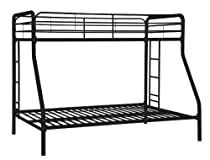 Hot Sale Dorel Home Products Twin-Over-Full Bunk Bed, Black