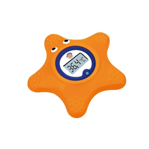 Mebby Floating Baby Bath Starfish Thermometer (Orange)