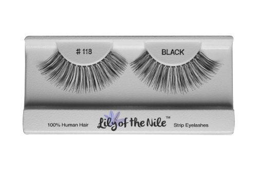Lily of the Nile Fashion Lashes # 118 False Eyelashes 100% Human Hair (6 Pairs) **Free Shipping**