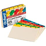 Oxford 04635 Manila Card Guides with Laminated Tabs, 4X6 , A-Z (4635)