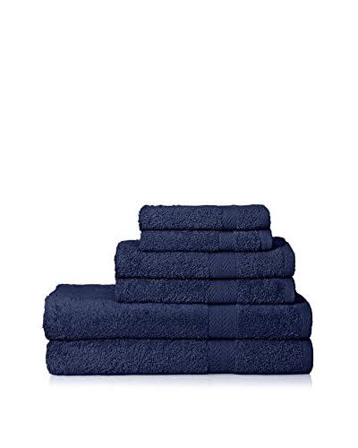 Espalma Deluxe Brights 6-Piece Towel Set, Navy