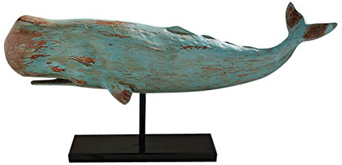 Design Toscano Folk Art Whale Statue, Multicolor