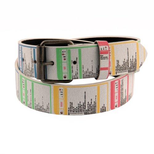 Unisex Unique Look Abstract Instruction Label Print Belt 36