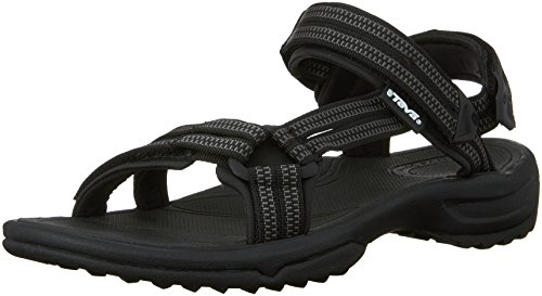 Teva Terra Fi Lite Donna US 10.5 Nero Sandalo da Sport
