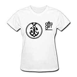 Atta Girl Short Sleeve Stylish Girl Student Tshirts White