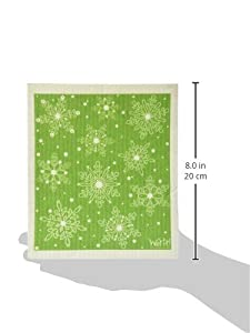 Swedish Treasures Wet-it! Cleaning Cloth, Works Great in Kitchen, Bathroom or Any Room, Reusable & Biodegradable, Green Winter Day