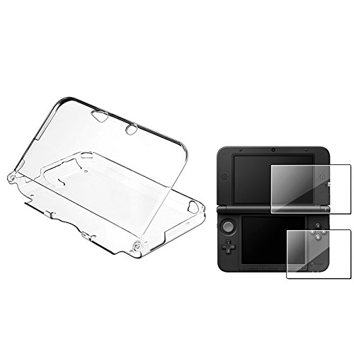 Everydaysource® Compatible With Nintendo 3Ds Xl Clear Crystal Case With Free 2-Lcd Kit Reusable Screen Protector