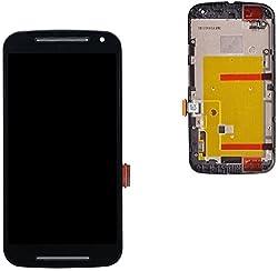 Online For Good(TM) Full LCD Touch Digitizer Screen Replacement for Motorola MOTO G2 XT1063 XT1068 XT1069 Second generation - Black