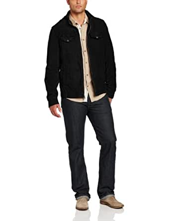 Levi's Men's Two Pocket Military Jacket, Black, Medium