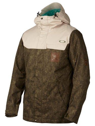 Oakley Rykkinn Mens Insulated Snowboard Jacket X-Large Worn Olive