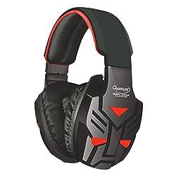 Quantum QHMPL QHM855 Stereo Headset Mic Vibration Bass Gaming Movie Music (Blue/Red)