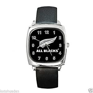 New Wrist Watches XKHD044 NEW* HOT RUGBY ALL BLACK Square Metal Watch LeatherBan d